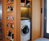 Встроенный шкаф для стиральной машины