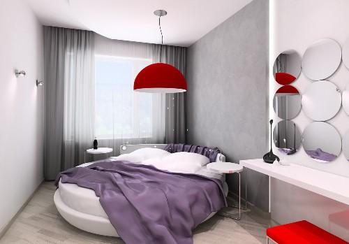 Яркий и жизнерадостный интерьер спальни