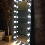 Зеркало в пол с креативной металлической рамой с эффектом состаривания