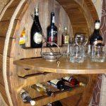Алкогольный шкафчик из бочки