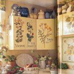 Декупаж стенки кухни