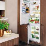 Двухкамерный встроенный холодильник