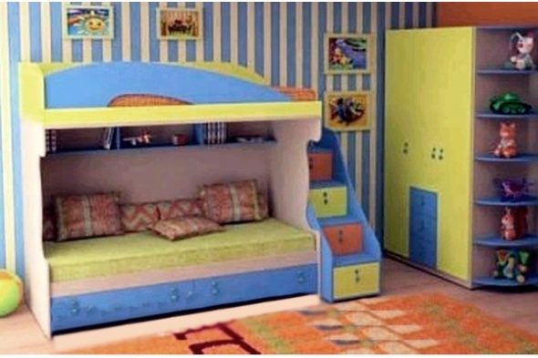 Двухъярусная кровать Kinder-Д