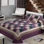 Хлопковое покрывало на кровать с эффектом лоскутного одеяла