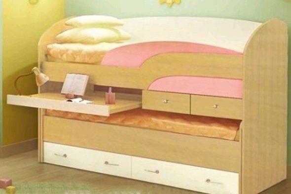 Компактная двухъярусная кровать