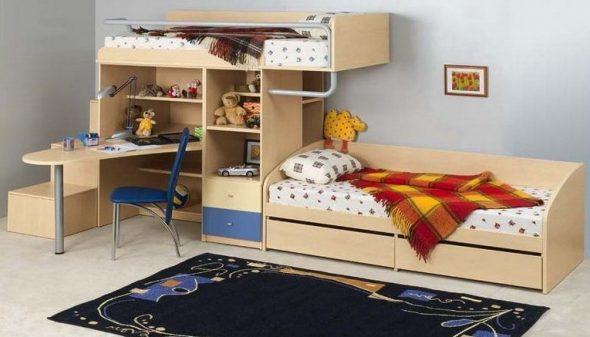 Компактный детский уголок для однокомнатной квартиры
