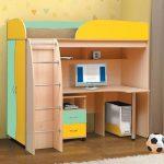 Красивая детская кровать чердак Омега 3 для маленькой комнаты