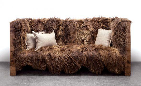 Меховой диван