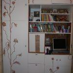 Новый фасад шкафчика из обоев