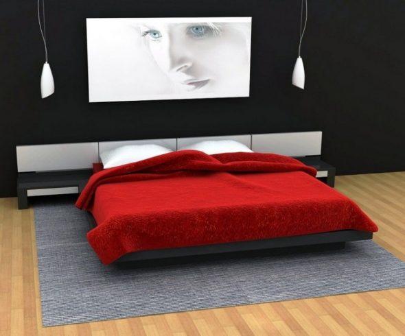 Оригинальная кровать, парящая в воздухе