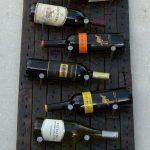 Оригинальная полка для бутылок в стиле лофт