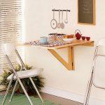 Откидной настенный стол для кухни