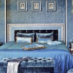 Покрывало для спальни в синих тонах