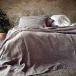Покрывало на кровать из натурального льна