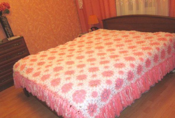 покрывало на кровать крючком подборка лучших моделей