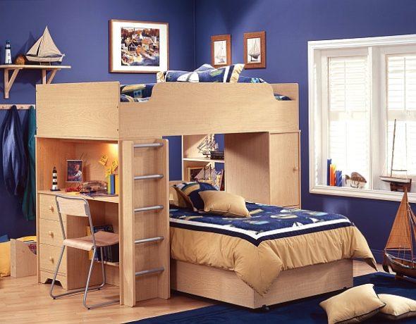 Потрясающая двухъярусная кровать-чердак