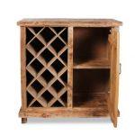 Простой деревянный винный шкафчик