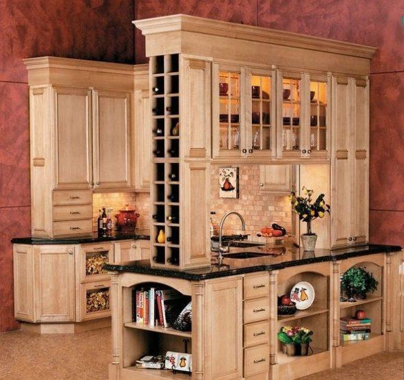 Шкаф для вина на кухне