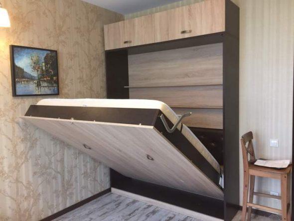 Шкаф-кровать с подъёмным механизмом