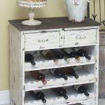 Стильный шкафчик-стеллаж для хранения вина