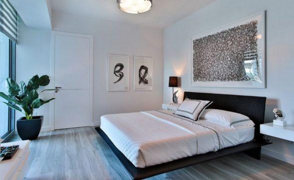 Парящая кровать с незаметными ножками