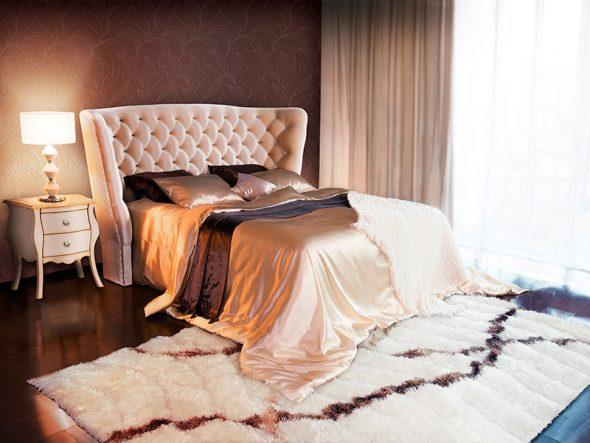 Великолепная кровать с ламелями Sofia