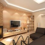 Создаем асимметричное расположение мебели в гостиной