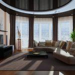 Вариант размещения мебели в гостиной