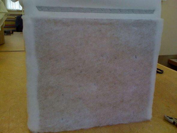 Четыре квадрата материи фиксируем на кубе