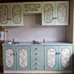 Декупаж кухонной мебели в стиле прованс