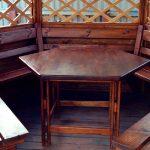 Деревянный стол в беседку своими руками