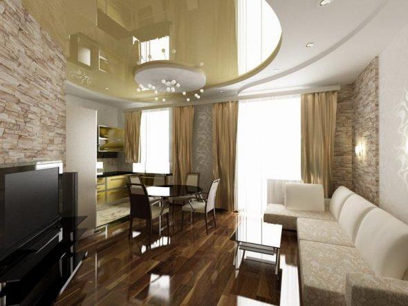 Дизайн комнаты неправильной формы