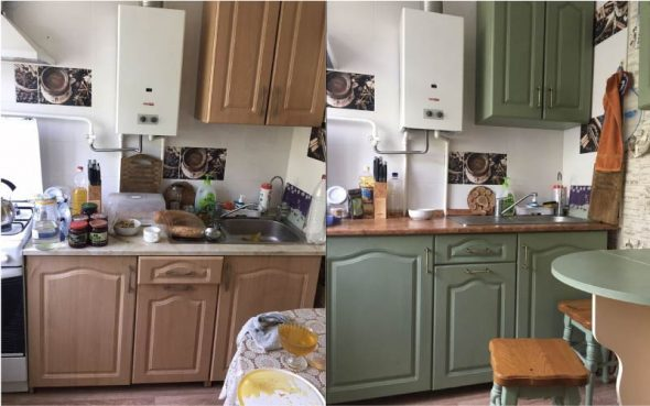 Фото кухни до и после реставрации