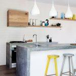 Функциональная, надежная и удобная столешница из бетона