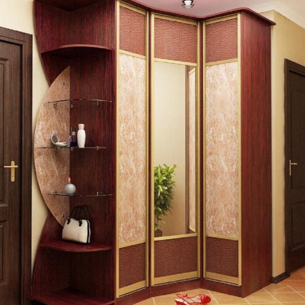 угловой шкаф для маленькой прихожей дизайн и модели с фото