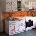 Интересные рисунки на пленке для кухне