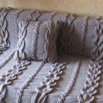 Красивое вязанное покрывало и подушка своими руками