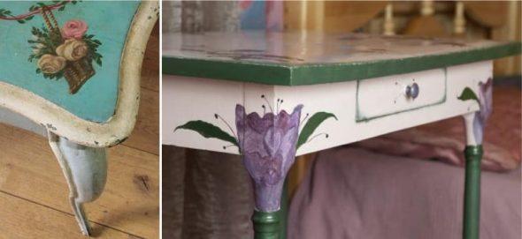 Красивые столы после реставрации