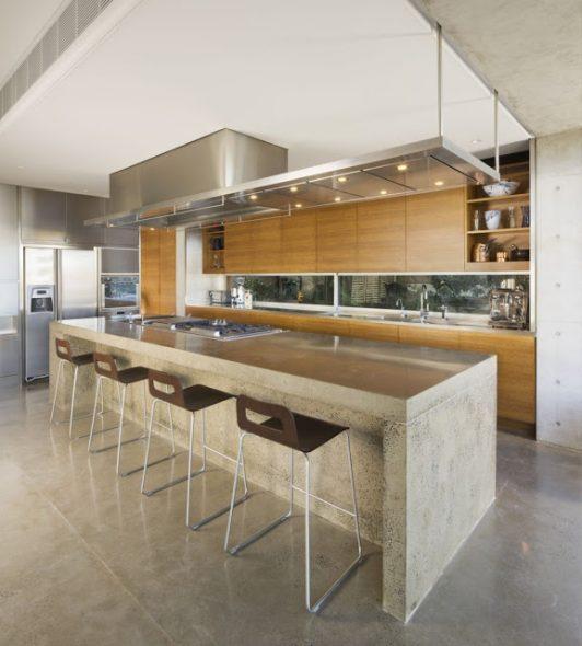 Кухонная столешница из бетона подлежит реставрации