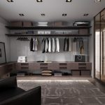 Линейная гардеробная в комнате