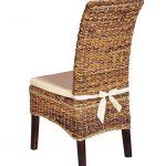 Мягкая подушка на плетеный стул