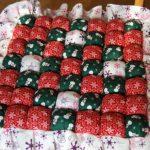 Новогодняя подушка из лоскутков