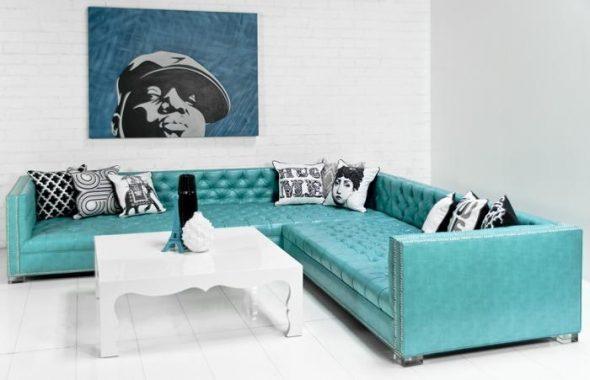 Оригинальный дизайн углового дивана