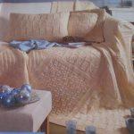 Плед с подушками в комплекте для дивана