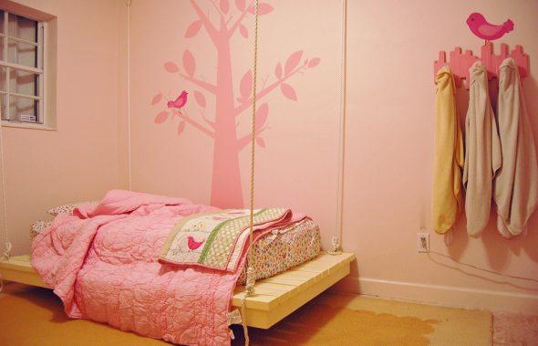 Подвесная кровать для девочки