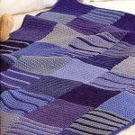 Покрывало в сине-фиолетовых цветах для дивана
