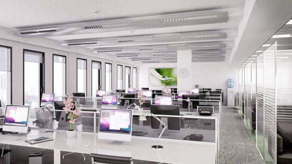 Офисное просторное помещение