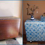 Раскладной стол до и после реставрации