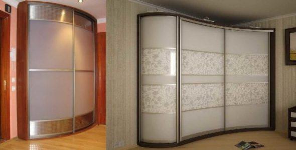 Конструкция со стеклянными дверями