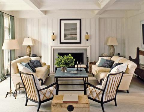 Способ симметричного расположения мебели в гостиной